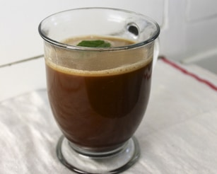Bulletproof Coffee in glass cup - CC
