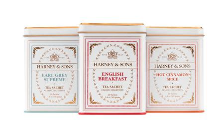 Three tins from the Harney and Sons English Breakfast Collection
