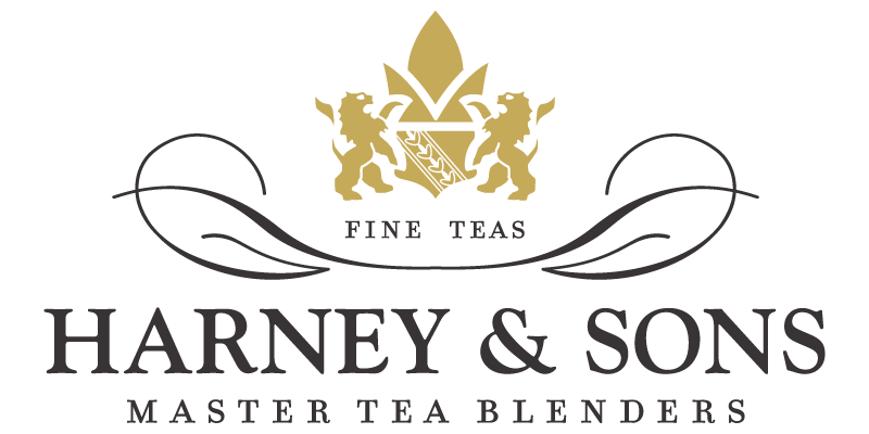 "Harney & Sons Logo with the subtext ""Master Tea Blenders"""